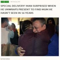 【海外発!Breaking News】16年ぶりに母と再会した息子、サプライズ訪問に号泣(米)<動画あり>