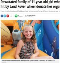 【海外発!Breaking News】白血病を克服するも事故で他界した11歳少女、臓器提供で3人の命を救う(英)