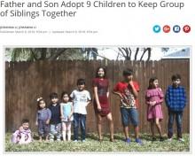 【海外発!Breaking News】父と息子、9人きょうだいの孤児を一度に養子に迎える(米)<動画あり>