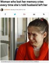 【海外発!Breaking News】短期記憶障害の女性、夫に去られた事実を受け入れられず涙の日々(露)