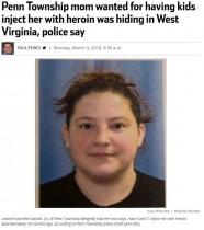 【海外発!Breaking News】幼い我が子にヘロイン注射を手伝わせた母親、逃走後に逮捕(米)
