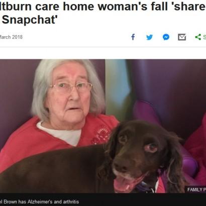 【海外発!Breaking News】老人ホーム施設スタッフ 高齢者女性を介助せず、床を這う姿を撮影してクビに(英)