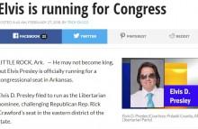 """【海外発!Breaking News】エルヴィス・プレスリー""""そっくりさん""""、アーカンソー州から下院議員に出馬の意向"""