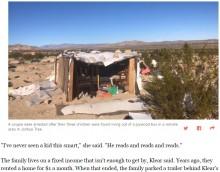 【海外発!Breaking News】砂漠地帯の粗末な小屋で生活していた子供達 両親が虐待容疑で逮捕(米)