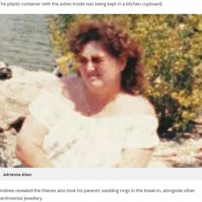 【海外発!Breaking News】母の遺灰を空き巣犯に盗まれて 家族は「お願いだから返して」(英)