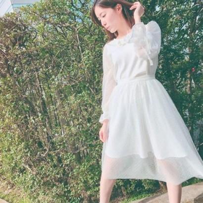 """【エンタがビタミン♪】松井珠理奈""""ハリウッドJURINA""""とは思えぬホワイトコーデ「春は女性らしく」"""