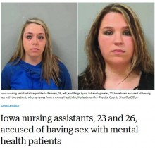 【海外発!Breaking News】ホームから男性入居者2名が脱走 性的関係にあった20代介護助手の女2名を逮捕(米)
