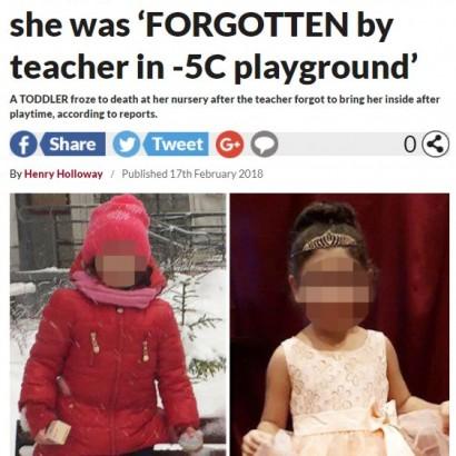 【海外発!Breaking News】氷点下の悲劇 3歳女児、幼稚園の運動場で死亡(露)