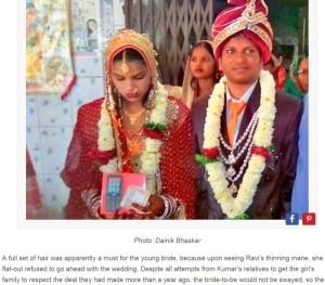 【海外発!Breaking News】「禿げているから嫌!」花嫁に結婚を拒否された花婿、別の女性とゴールイン(印)