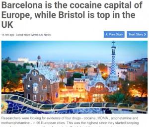 【海外発!Breaking News】欧州ワースト1の都市はバルセロナ スペイン人のコカイン好きが判明