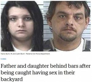 【海外発!Breaking News】39歳父親と19歳娘が裏庭で性行為 公然わいせつ罪で逮捕(米)