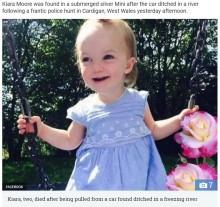 【海外発!Breaking News】誕生日目前の悲劇 2歳女児が車ごと川に転落(英)