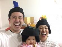 【エンタがビタミン♪】森渉・金田朋子夫妻、愛娘の初節句も被り物で 「見ているだけで幸せになれる家族」憧れの声も