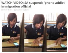 【海外発!Breaking News】スマホに夢中の南アフリカ入国審査官、パスポートに入国許可スタンプを2回押す<動画あり>