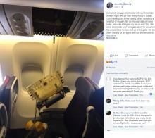 【海外発!Breaking News】アメリカン航空機内で天井パネルが落下、1歳児の頭を直撃