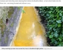 【海外発!Breaking News】インド料理店からの排水で川がカレー色に しかし原因は意外なところにあった(英)