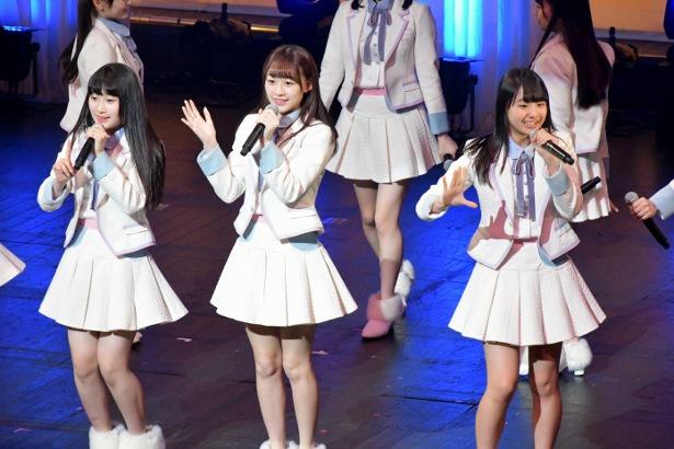 同学院のアイドルユニット「=LOVE」もLIVEで新入生を応援