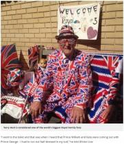 【海外発!Breaking News】ロイヤルベビー誕生目前! 英王室ファンの83歳男性、ユニオンジャックのスーツで野宿
