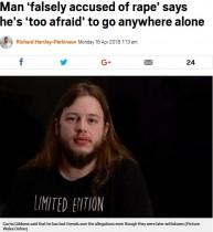 【海外発!Breaking News】虚偽の性的暴行容疑をかけられた男性 「人生を大きく変えられてしまった」と吐露(英)