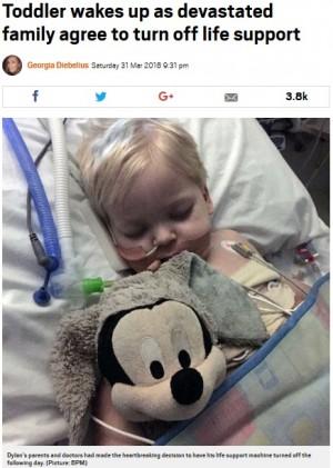 【海外発!Breaking News】稀な肺がんの2歳児、死を宣告された直後に復活 家族は「イースターの奇跡」(英)