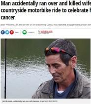 【海外発!Breaking News】がん回復を祝う夫婦でのツーリング中に悲劇 夫のバイクに妻が撥ねられる(英)
