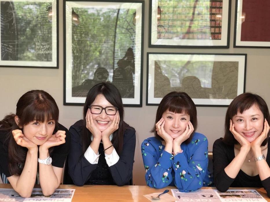 小倉優子、ギャル曽根、千秋、山口もえ(画像は『ギャル曽根 2018年4月26日付Instagram「みんなでランチしました」』のスクリーンショット)
