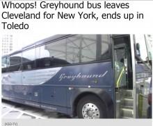 【海外発!Breaking News】グレイハウンドバスに何が起きた!? NY行きのはずがオハイオ州トレドに到着