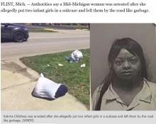 【海外発!Breaking News】幼いわが子2人をスーツケースに詰め、戸外へ捨てた26歳鬼母を逮捕(米)