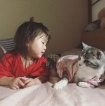 【エンタがビタミン♪】坂本美雨の2歳愛娘と飼い猫 「絵本みたい」な仲良しショット