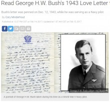 【海外発!Breaking News】バーバラさんへのラブレターに感動 ひたむきに愛の言葉を綴っていた若き日のブッシュ元米大統領