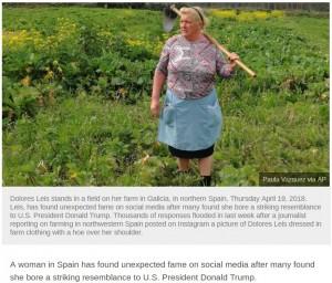 【海外発!Breaking News】ドナルド・トランプ大統領ソックリの中年女性がスペインに!