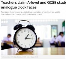 【海外発!Breaking News】長針と短針で時刻を読めない中高生激増 イギリスの教室から姿を消すアナログ式時計