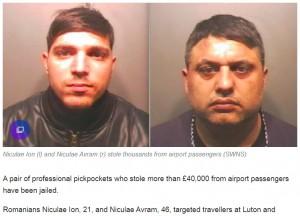 【海外発!Breaking News】英空港で600万円超の荒稼ぎ ルーマニア国籍のスリ犯2名に懲役刑