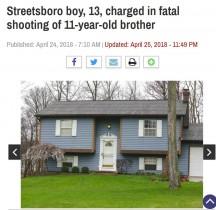 【海外発!Breaking News】13歳兄、祖父宅から盗んだ拳銃で11歳弟を射殺(米)