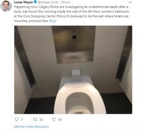 【海外発!Breaking News】何故そこに? ショッピングセンターで女子トイレの壁裏に男性の遺体(カナダ)