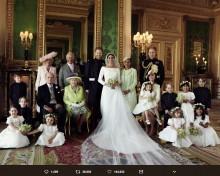 【イタすぎるセレブ達】ヘンリー王子&メーガン妃 挙式集合写真が「開かれた王室」を象徴する1枚に