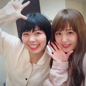 Negicco MeguとNao☆(画像は『Negicco Nao☆ 2018年4月30日付Instagram「パジャマぽんなお☆」』のスクリーンショット)