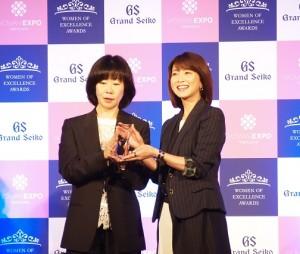 第4回「Women of Excellence Awards」授賞式にて森高千里