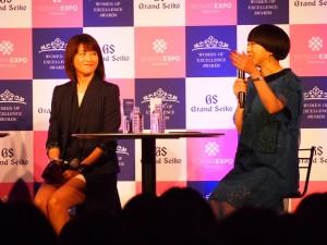 第4回「Women of Excellence Awards」トークショーにて森高千里とMIKIKO氏