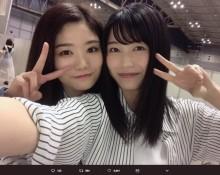 【エンタがビタミン♪】AKB48横山由依、中野郁海と2ショット 写メ会の対応に「楽しかったよ~」