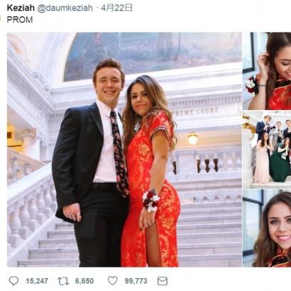 【海外発!Breaking News】プロムにチャイナドレスを着た米高校生 「中国文化を軽視か」と物議醸す
