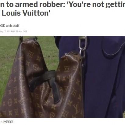 【海外発!Breaking News】強盗に銃で脅された男性、それでもヴィトンのバッグは手放さず(米)