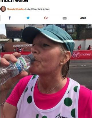 【海外発!Breaking News】マラソンで水を飲みすぎた女性、低ナトリウム血症で昏睡状態に(英)