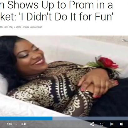 【海外発!Breaking News】棺桶に入ってプロムに登場した女子高生「葬儀屋になるのが夢」(米)<動画あり>