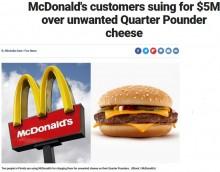 【海外発!Breaking News】マクドナルド「チーズ抜きで」の注文にチーズ入り代金を請求し訴えられる(米)