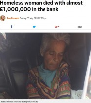 【海外発!Breaking News】ホームレス女性の死後、1億2千万円超の資産が明らかに(レバノン)