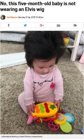 【海外発!Breaking News】ひょっとして英国一!? 生後5か月でフサフサの髪を持つ赤ちゃん
