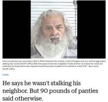【海外発!Breaking News】地域で有名な「サンタおじさん」実は…計40kgの女性用下着を押収(米)