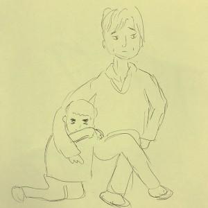 近江友里恵アナによるデッサン(画像は『NHKあさイチ 2018年5月23日付Instagram「おうみ画伯」』のスクリーンショット)