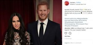 ニューヨークのマダムタッソーにもメーガンさん&ヘンリー王子の蝋人形が登場(画像は『Madame Tussauds New York 2018年5月9日付Instagram「Royalty Awaits YOU!」』のスクリーンショット)